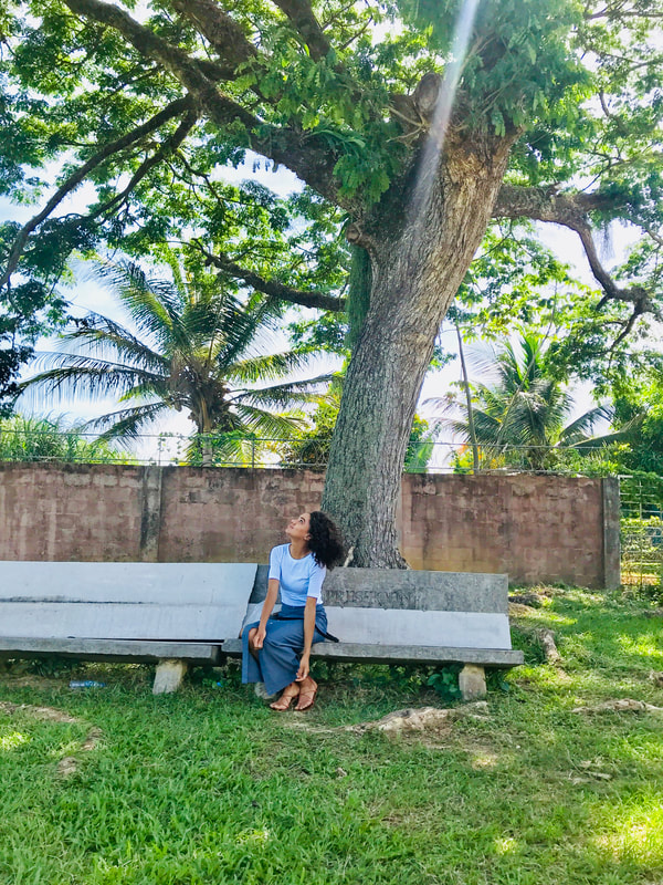 trinidad, chambray maxi skirt, travel writer