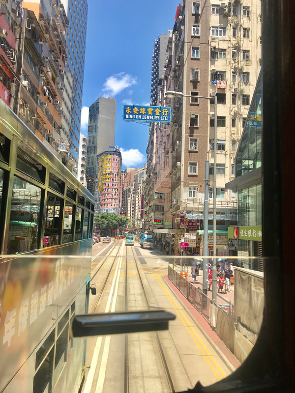 Hong Kong travel, tram in Hong Kong