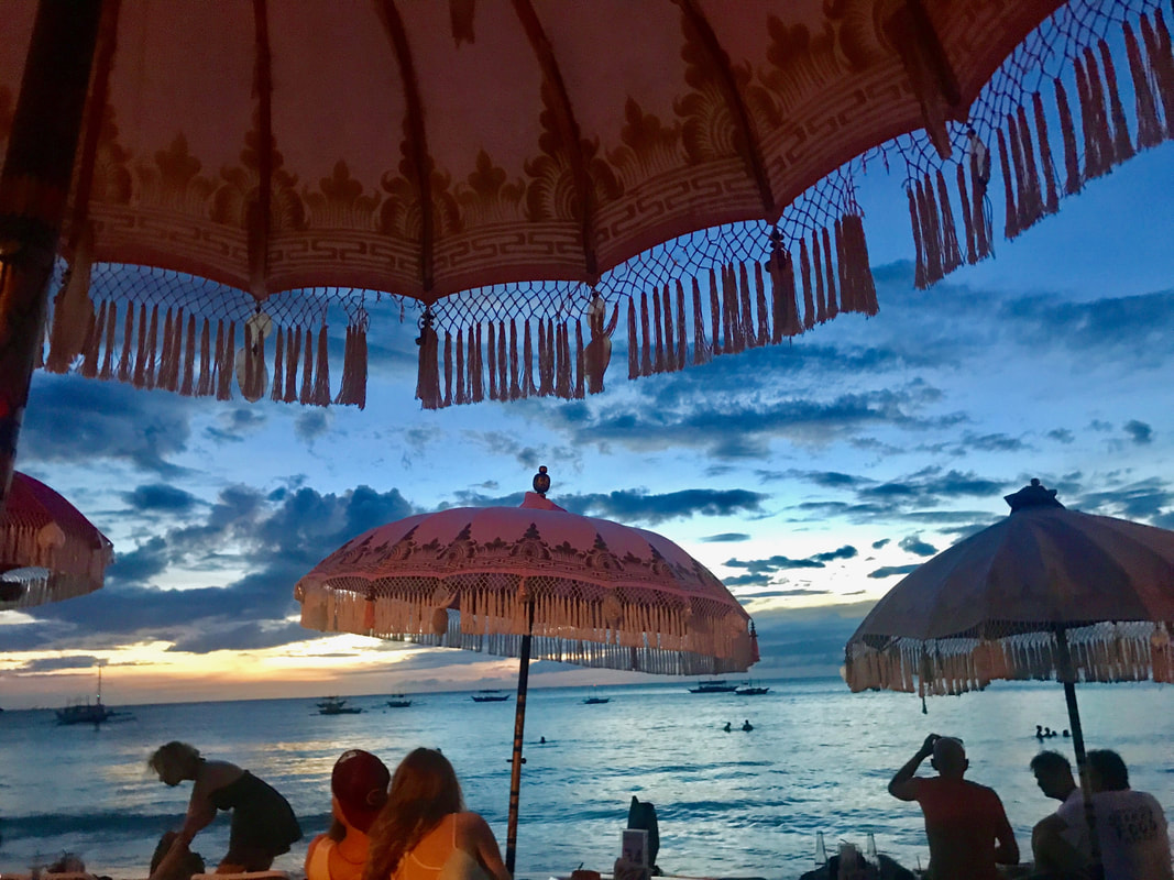 Wahine beach bar, Diniwid beach, Boracay island, Philippines