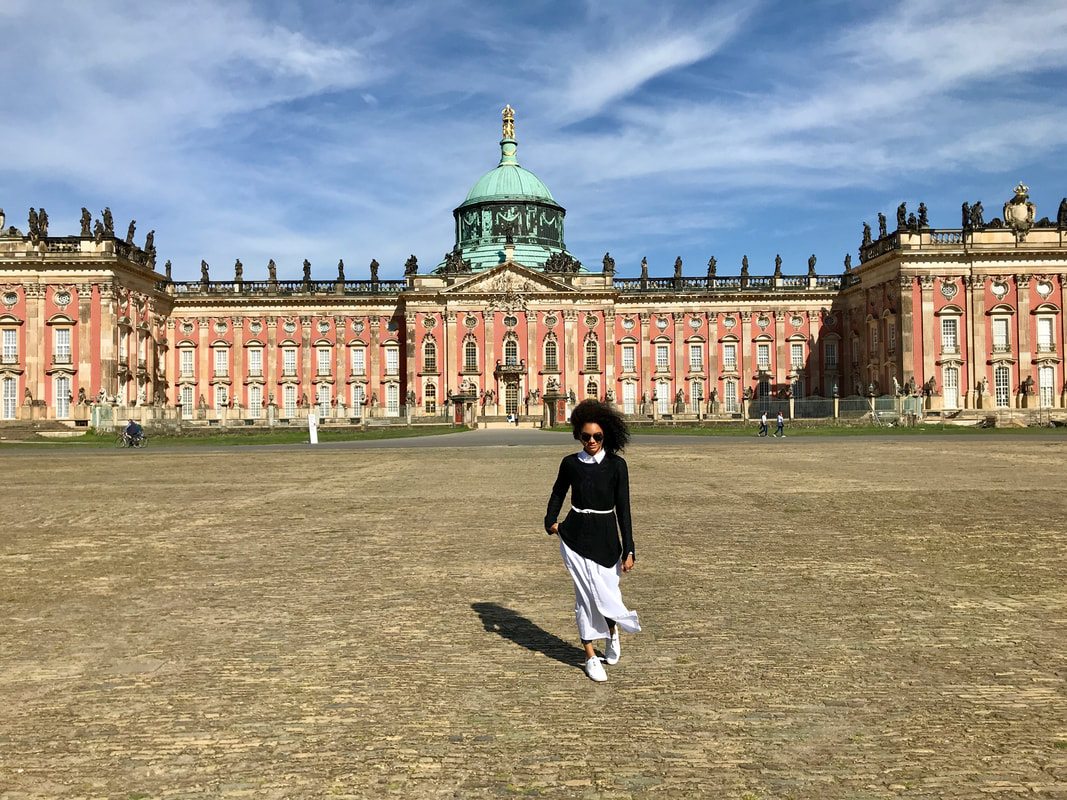 new palace, neues palais, potsdam, germany, travel in style, shirt dress, maxi dress, Europe